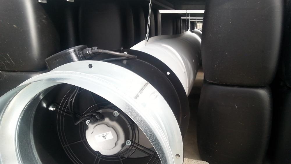 Gaine de ventilation pour serre fermée