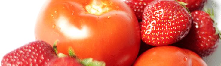 fraises et tomates