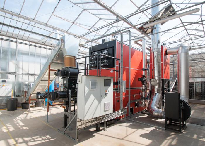 chaudiere biomasse pour chauffer une serre